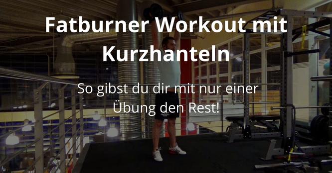 Fatburner Workout mit Kurzhanteln: So gibst du dir mit nur einer Übung den Rest