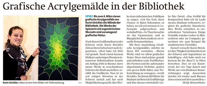 Bericht im Berner Oberländer