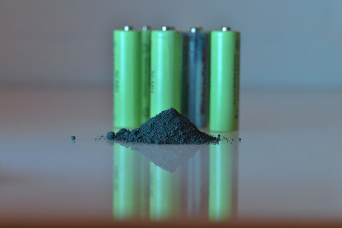 Aktivpulver aus Altbatterien
