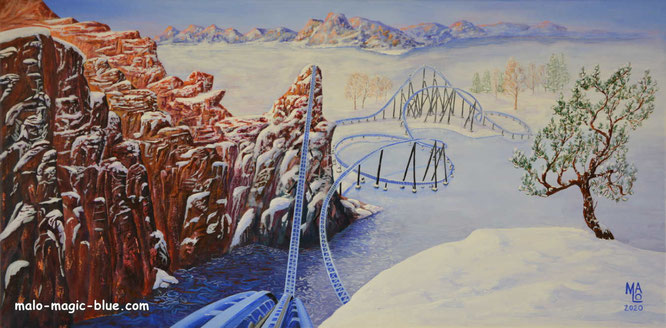 Walibi Holland, steel roller coaster, Goliath, roller coaster art, roller coaster art-venture