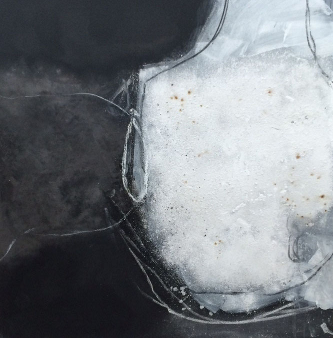 Bild: Lebensfülle: 100 x 100 cm, auf Leinwand, Acryl-Mischtechnik, mit Bitumen