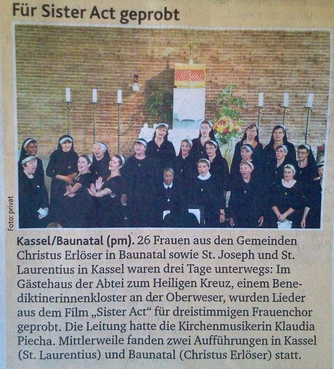 Chorhöhepunkt 2013  - Bericht unserer Kirchenzeitung
