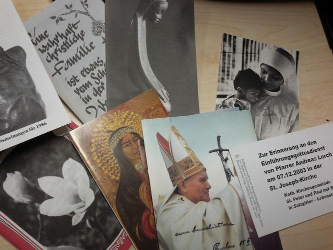 Alte Andachtsbilder sammelt ein Freund unserer Gemeinde für die Pfarrchronik! Helfen Sie uns! Danke!