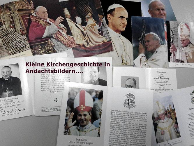Kleine Kirchengeschichte in Andachtsbildern! Helfen Sie uns die kleinen Schätze zu erhalten und zu sammeln! Nicht wegwerfen!