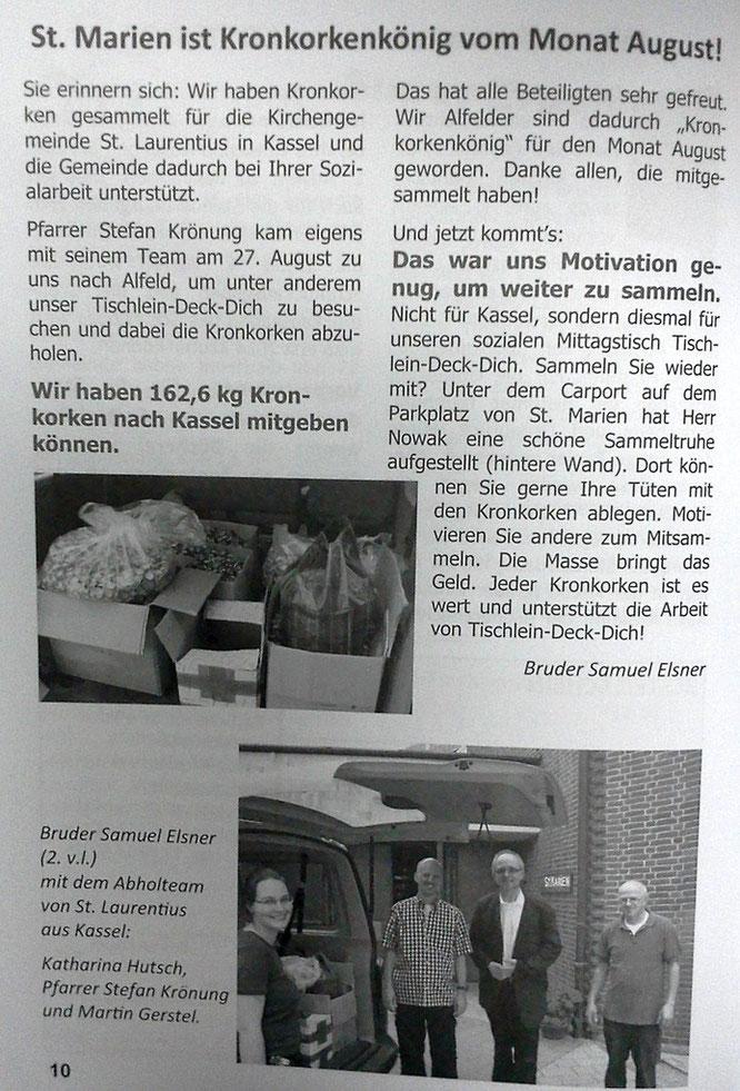 Pfarrbrief aus Alfeld (2013)