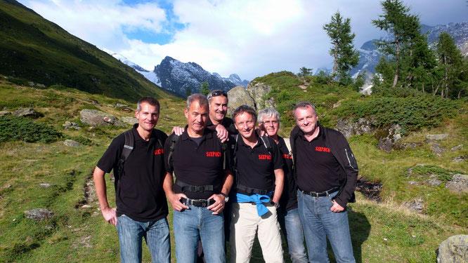 von links: Andy, Hampi,René, Dani, Chrigel und Oliver aus Dielsdorf