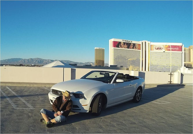 Bild: Welcome to Las Vegas, Cesears Palace, HDW, Ford Mustang, The Mirage, Hangover, Hans-Dieter Wuttke
