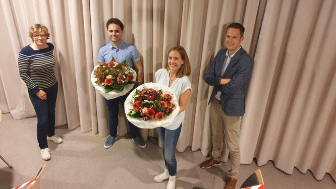 vlnr: Natascha Kohnen, Matteo Rudolph, Christine Himmelberg, Florian Schardt