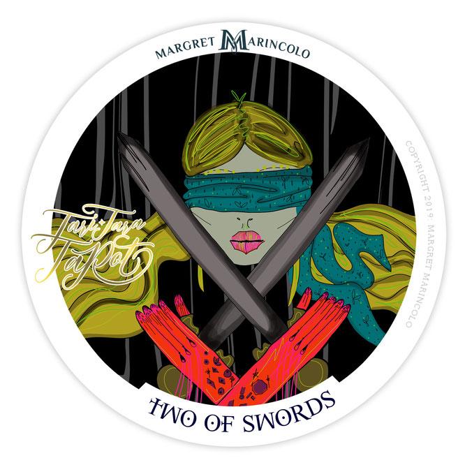 """Die Zwei der Schwerter als Talisman im """"TARI TARA TAROT"""""""