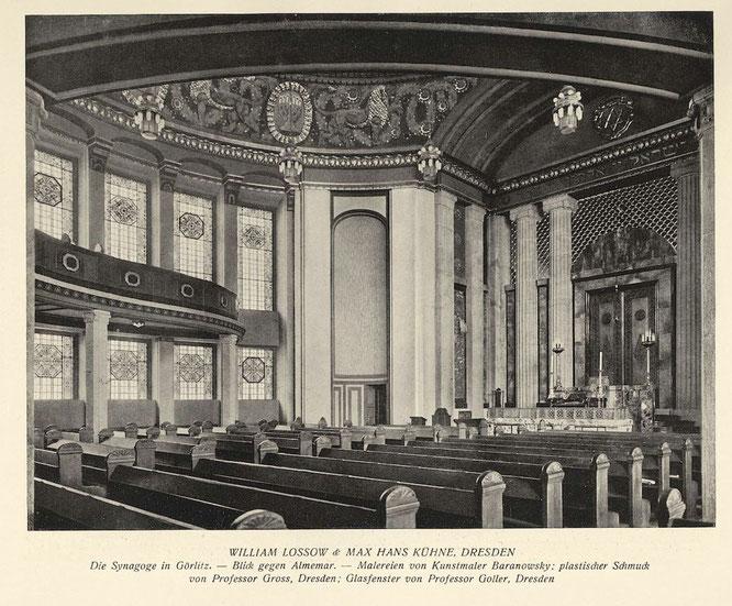 """Historische Fotos der Synagoge Görlitz veröffentlicht in der Zeitschrift """"Moderne Bauformen"""" Jahrgang 1911"""