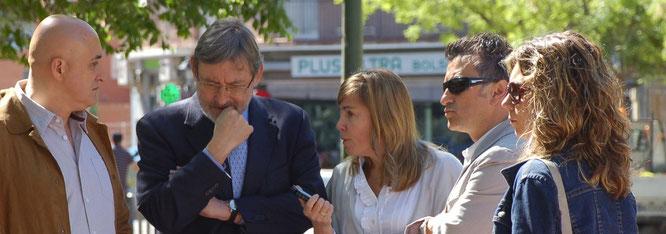 Lissavetzky durante su visita hoy a Vicálvaro (Imagen El Distrito)