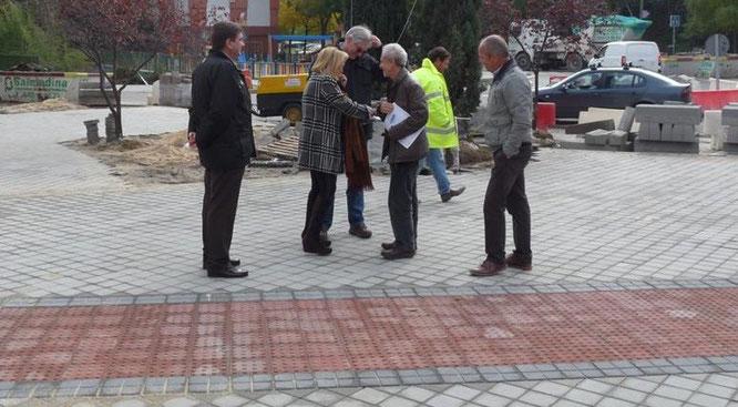 La concejala Carmen Torralba visitó las obras de remodelación