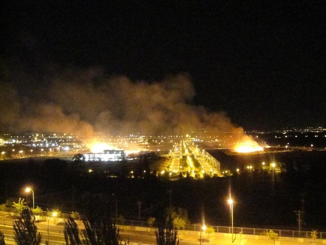 El incendio fotografiado por Néstor García