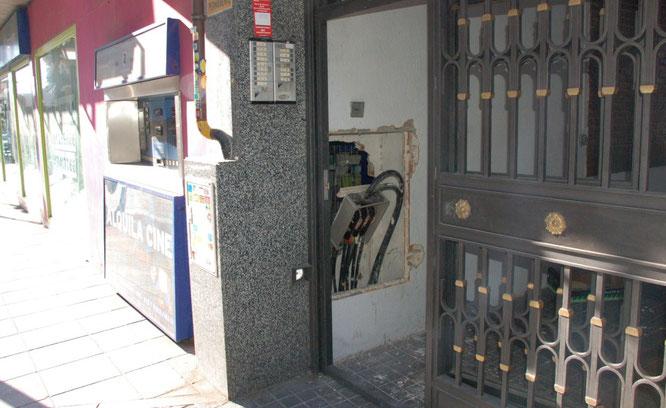 Imagen del robo realizado mendiante el método del butrón (El Distrito)