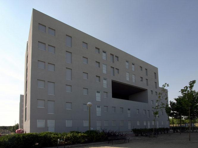 Nuevo edificio de viviendas públicas en el barrio de La Catalana de Vicálvaro