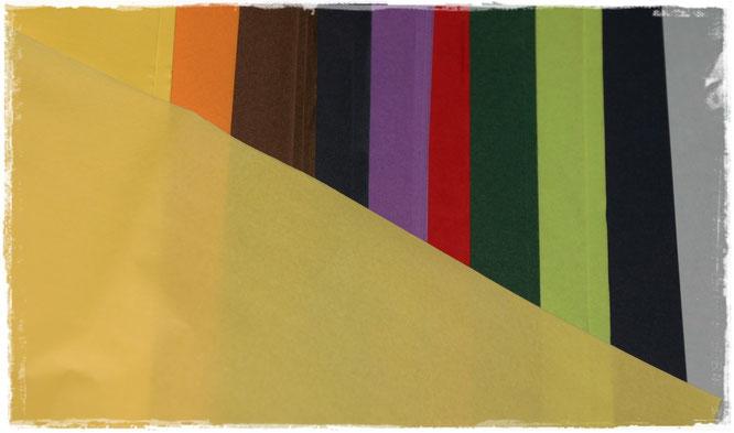 Seidenpapier farbig in großen Bögen