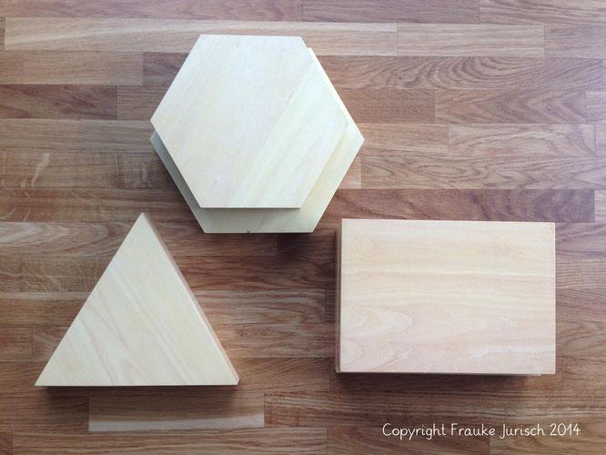 konstruktive dreiecke, geometrie, montessori