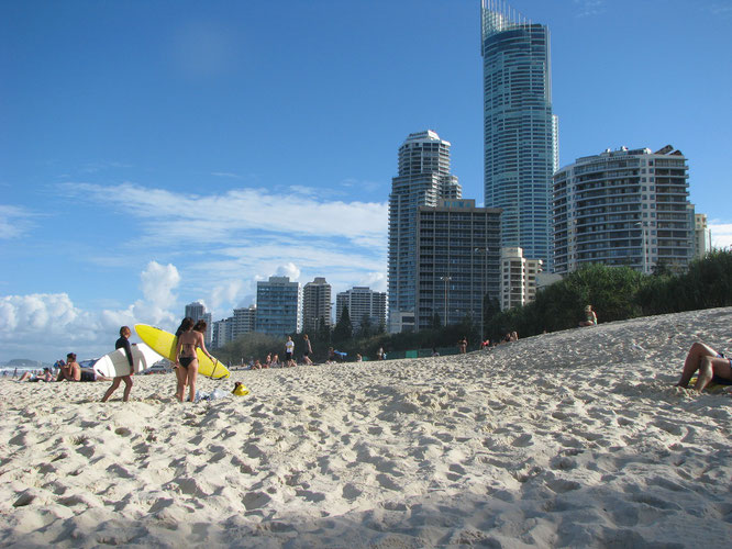 A beach in Gold Coast