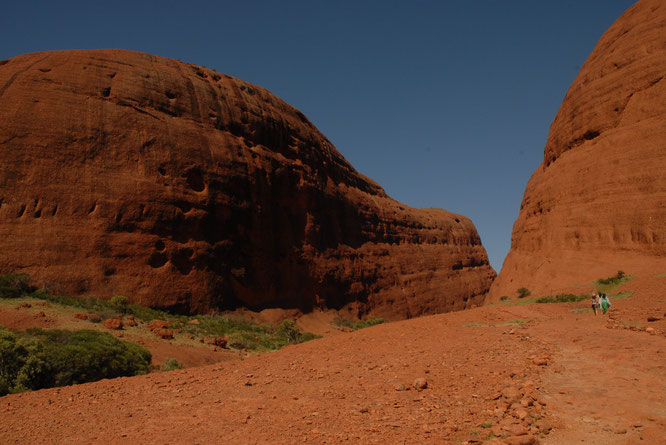 Kata Tjutas in Ayers Rock National Park. Check out the size of people on the left!