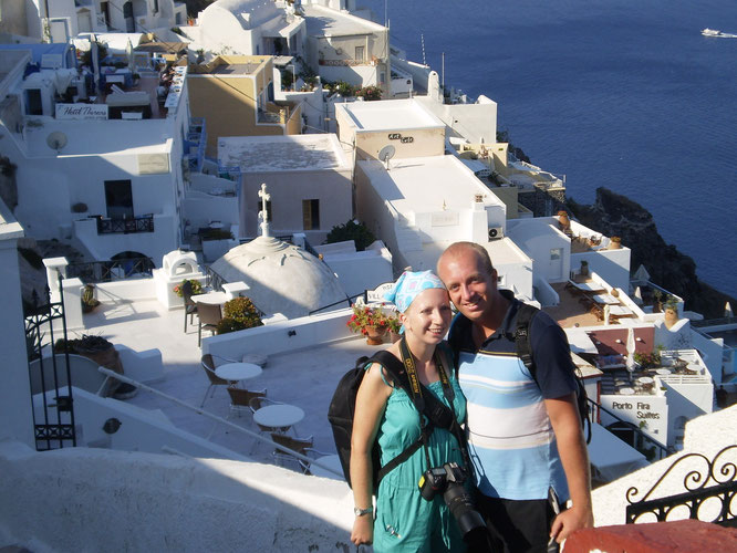Santorini, Greece - with my brother
