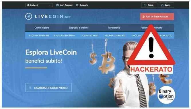 livecoin opinioni recensioni exchange borsa truffa o funziona