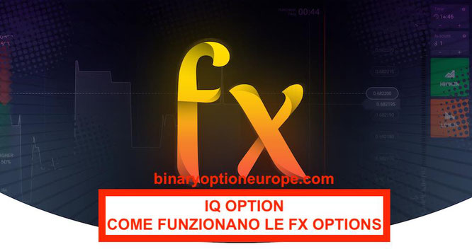 IQ Option opzioni FX options Forex come funzionano [Guida video]