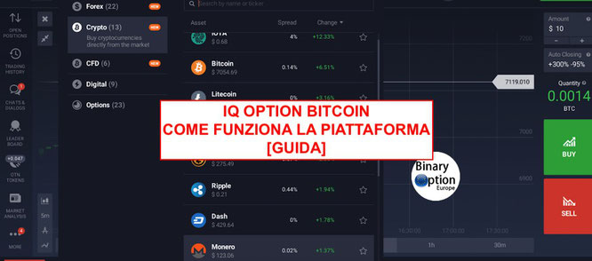 iq option bitcoin come fare trading criptomonete 2018