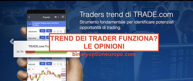Trend dei Trader su Trade.com e Markets.com come funziona cos'è