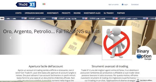 tradex1 opinioni recensioni broker truffa