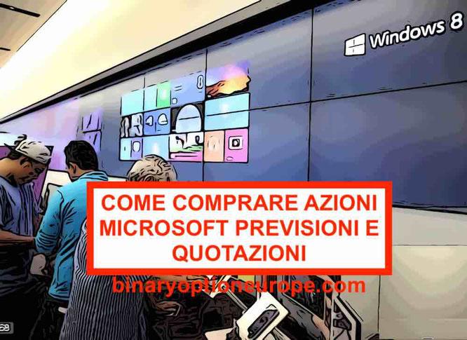 Comprare Azioni Microsoft grafico andamento e quotazioni tempo reale