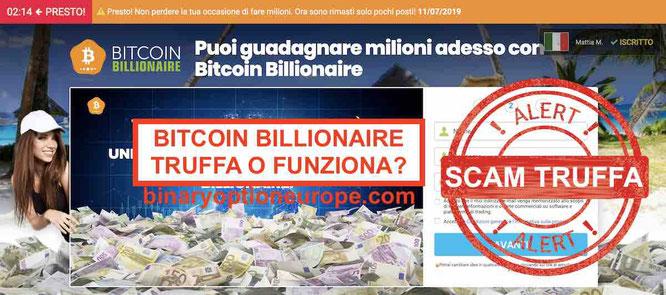 Bitcoin Millionaire club opinioni recensioni truffa funziona