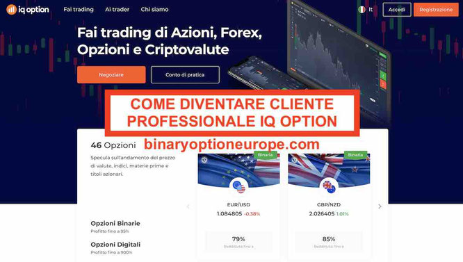 ESMA binarie: come diventare binary e iq option cliente professionale