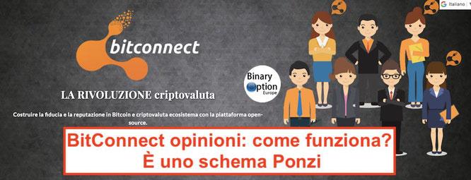 bitconnect opinioni italia schema ponzi truffa