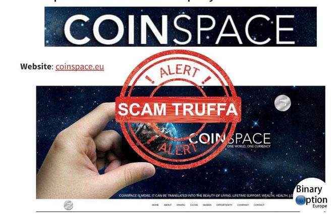 coinspace italia truffa opinioni recensione