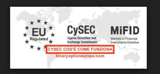 cysec bonus opzioni binarie vietato