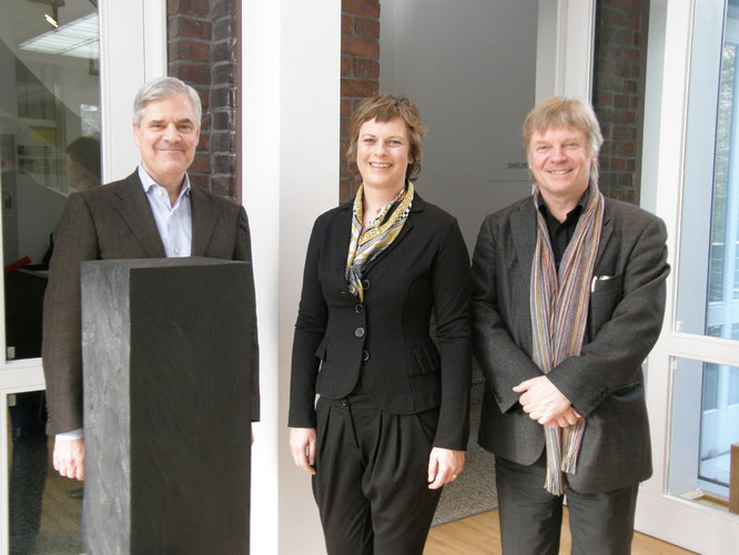 Dr. Andreas Dombret, Silke Linnemann, Burkhard Leismann (v.l.n.r.)