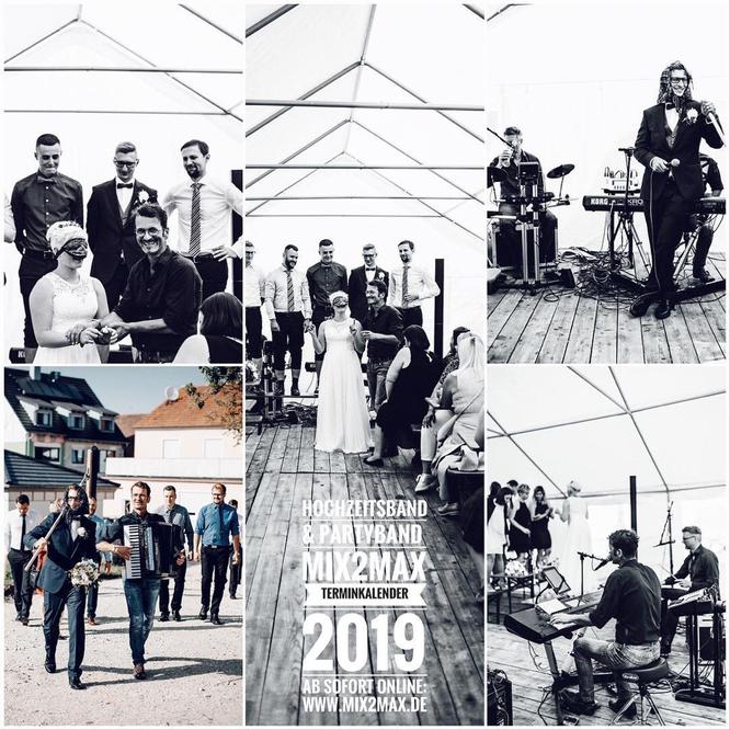Brautentführung mit der Hochzeitsband & Partyband mix2max / Bayern