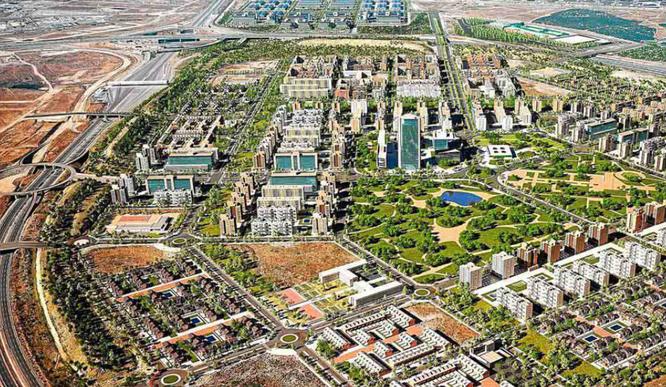 Recreación del nuevo barrio de El Cañaveral en la zona este de Vicálvaro (Imagen: El Mundo)