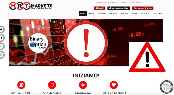 mrtmarkets broker truffa opinioni recensione italiani