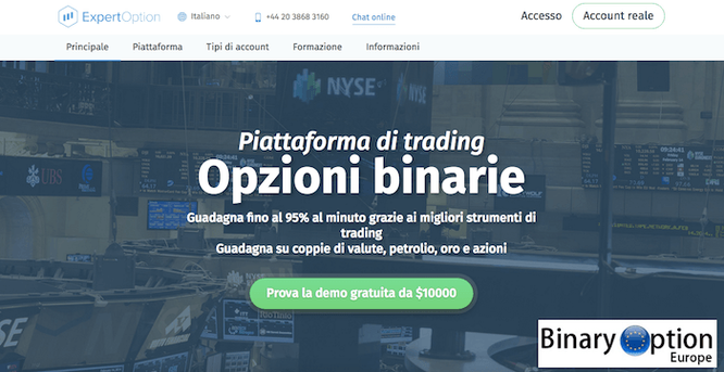 expert option piattaforma broker opzioni binarie