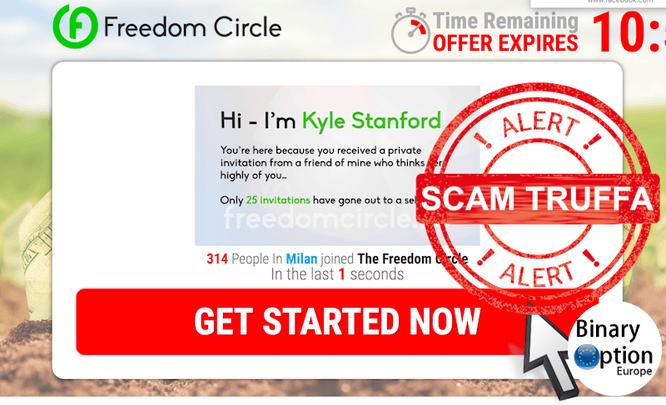 freedom cirle truffa scam