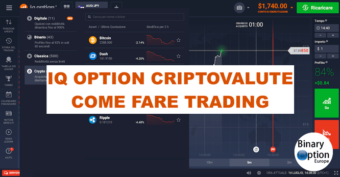 iq option criptovalute come investire