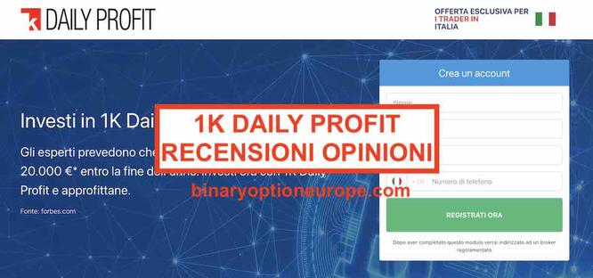 1K Daily Profit truffa scam