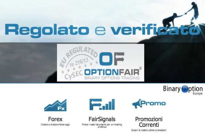 optionfair regolato e verificato broker opzioni binarie