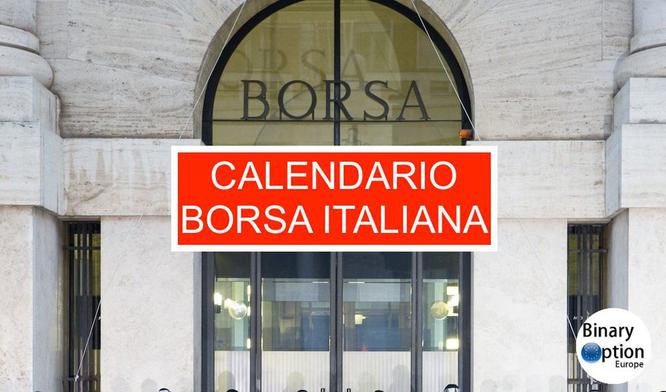 calendario borsa italiana 2018 e 2019