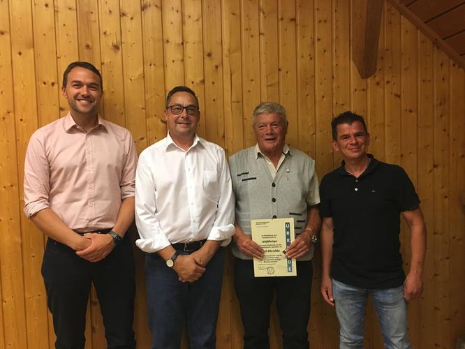 v.l. Wolfram Bosch, Roland Groner, Karl Hirschle, Markus Bührle