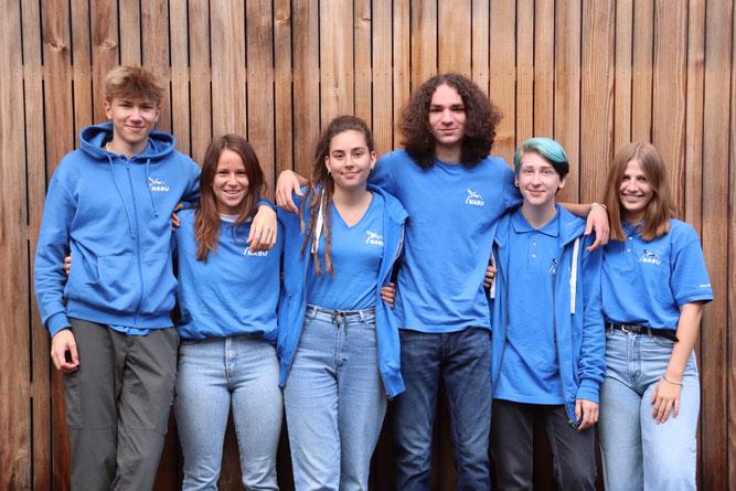 Das Team 2019/2020 der FÖJler*innen und BFD*innen (v.l.n.r. Katharina Kunz, Max Haupt, Lydia Lehmann, Max Kurzmann, Aurelia Tiemann, Lennart Mak, Tobias Mahr)