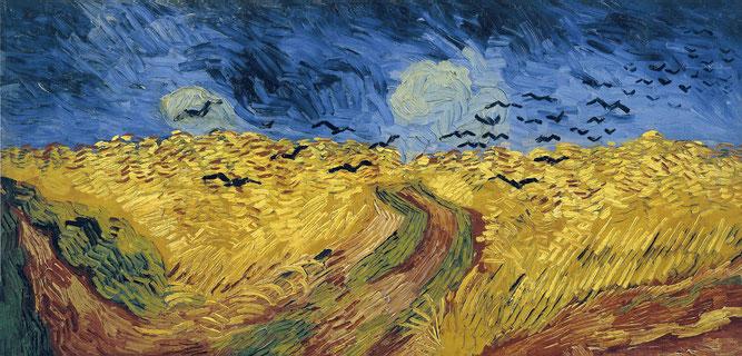 フィンセント・ファン・ゴッホ「カラスのいる麦畑」(1890年)