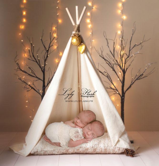 photographe naissance bébé jumeaux tippi