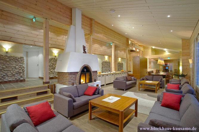 Kamin in Landhotel - Blockhaus Hotel